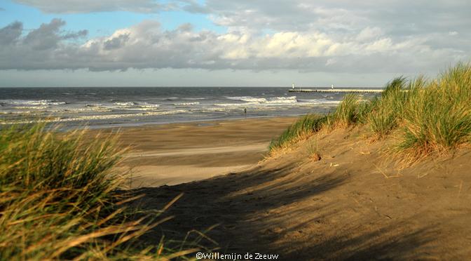 Nieuwpoort beach Belgian coast Belgium