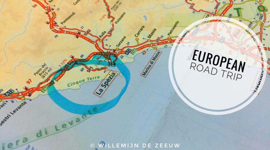 European road trip map Italy