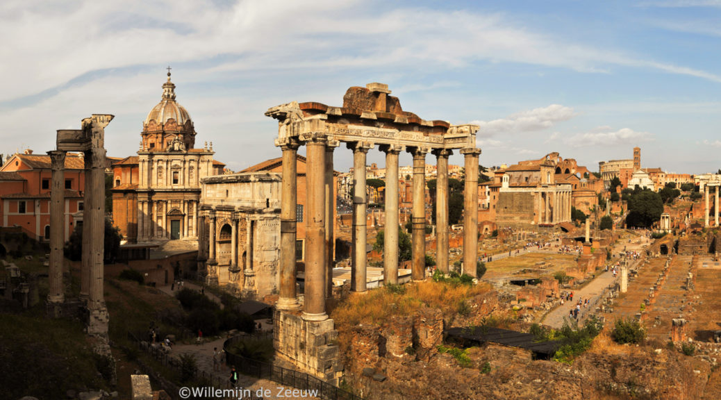 Panoramic photos Forum Romanum Rome Italy