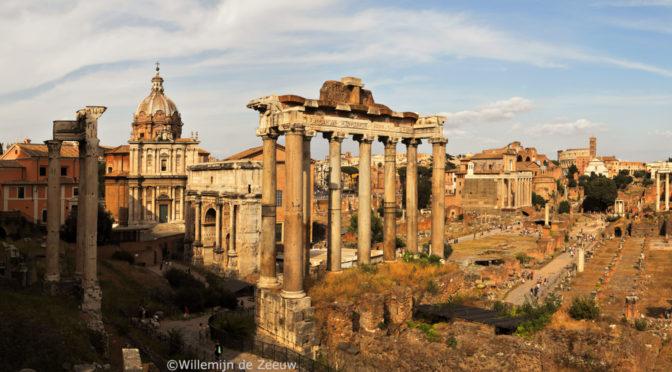 Panoramic photos Forum Romanum Rome Italy