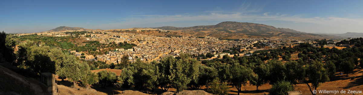 Panoramic photo Fez Morocco