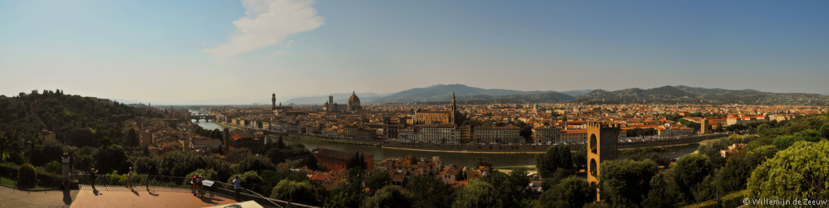 Panoramic photo Piazzale Michelangelo