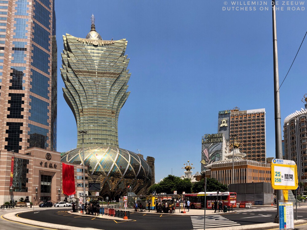 Grand Lisboa hotel on a day trip to Macao
